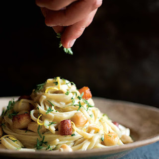 Fettuccine with Scallops