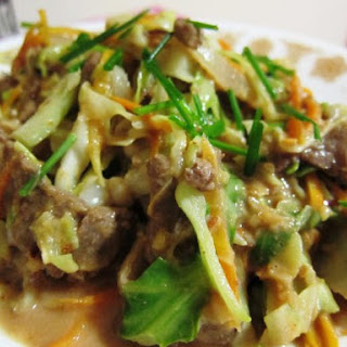 Mongolian Beef with Cabbage for HCG Diet Recipe