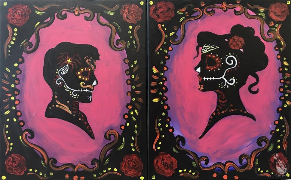 Day of Dead Couples Painting