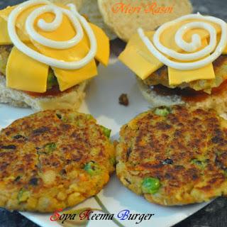 Soya Keema Burger