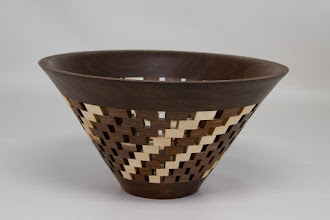"Photo: Bob Grudberg 4"" x 7"" open segmented bowl [walnut]"