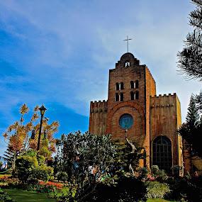 The Chapel of Transfiguration by Joseph Molde - City,  Street & Park  Vistas