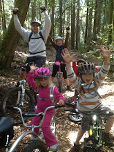 Photo: Wahoo! Stump Beach downhill with a 3, 5, and 8 year-old!