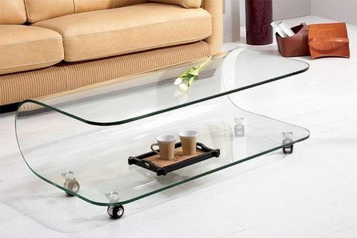 میز قهوه شیشه ای بزرگ