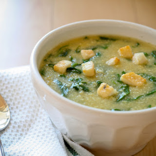 Rustic Spinach and Cornmeal Soup