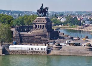 Photo: Standbild von Kaiser Wilhelm I. am Deutschen Eck.