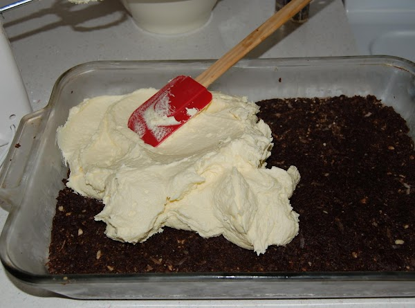 Second Layer  Cream butter and custard powder add cream and icing sugar and mix...