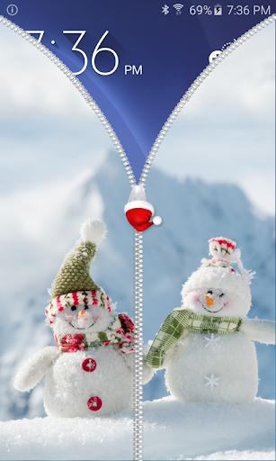 圣诞快乐拉链锁屏