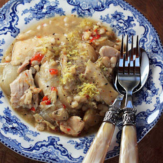Slow Cooker Lemon-garlic Chicken And White Bean Stew