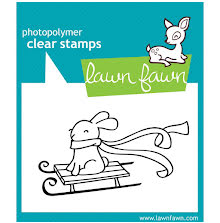 Lawn Fawn Clear Stamps 3X2 - Winter Bunny