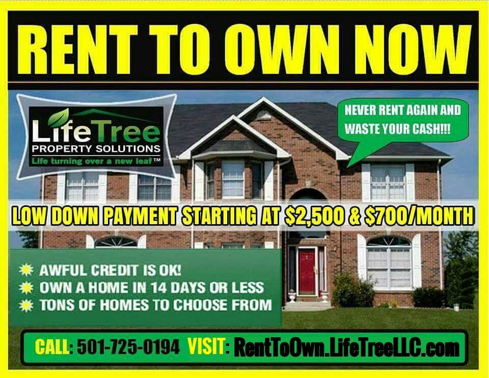 Rent To Own Houses In Arkansas Lifetree 501 725 0194
