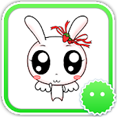 Stickey Kawaii Cartoon Rabbit