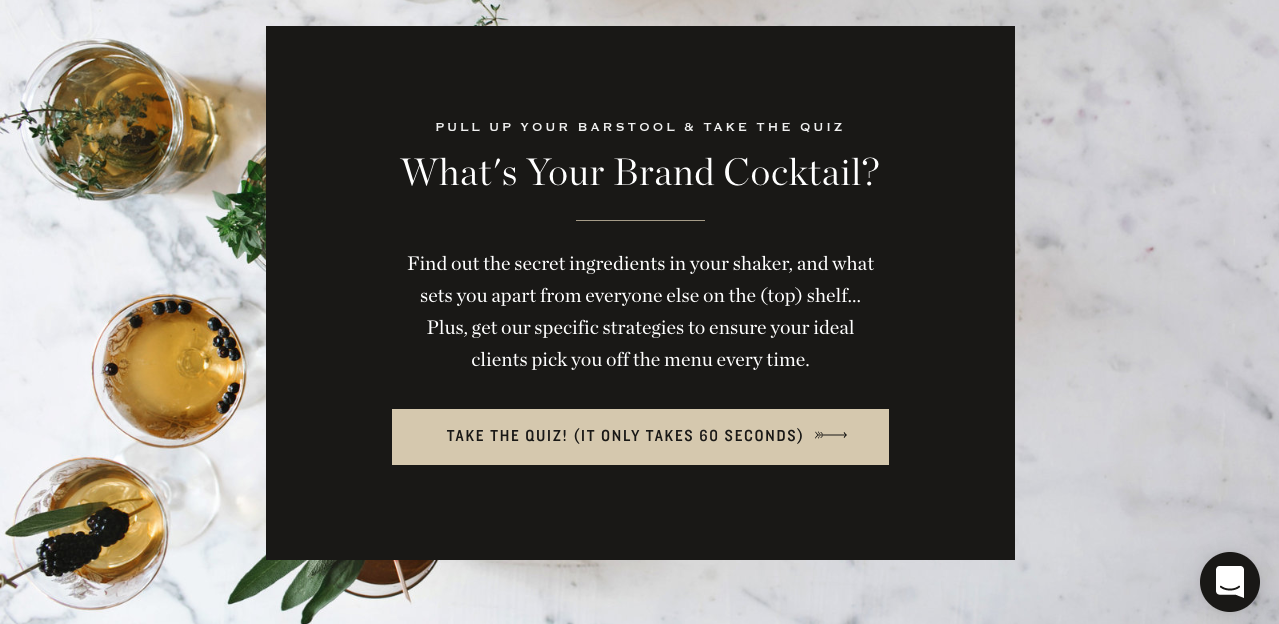 What's your brand cocktail? quiz cover