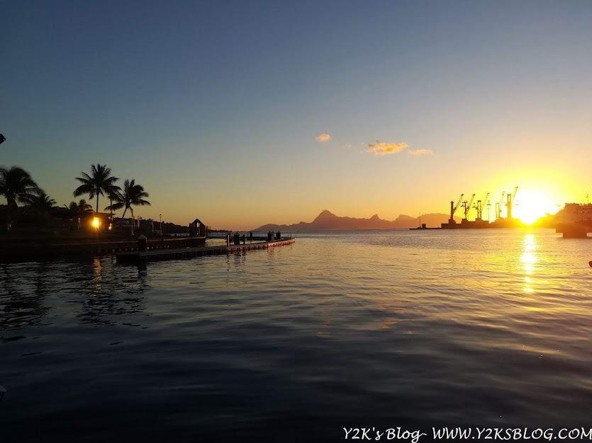 Tramonto su Marina di Papeete - Moorea sullo sfondo
