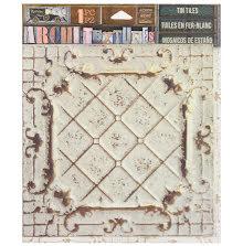 7 Gypsies Architextures Adhesive Tin Tiles 5.75X5.75 - Alabaster UTGÅENDE