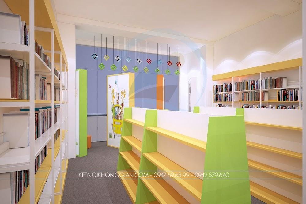 thiết kế nội thất nhà sách lạ mắt