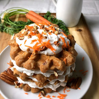 Carrot Cake Waffles (Gluten-Free and Vegan)
