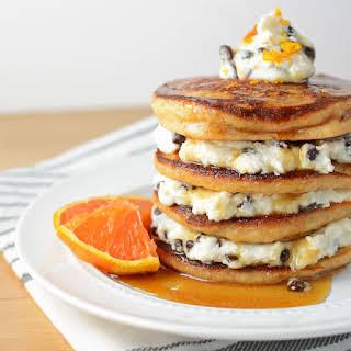 Orange Cannoli Pancakes.