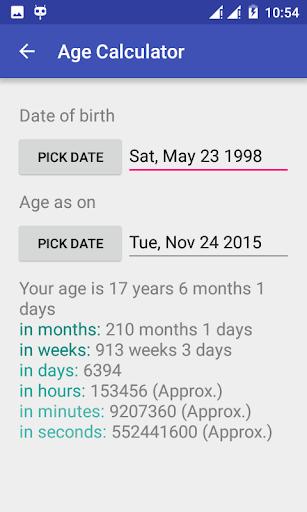 Date + Age Calculator