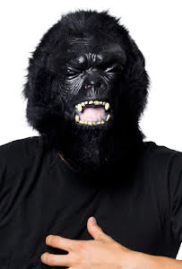 Gummimask, gorilla