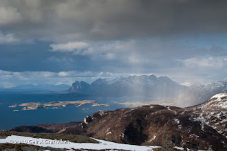 Photo: View towards the North from the mountain Keiservarden, Bodø