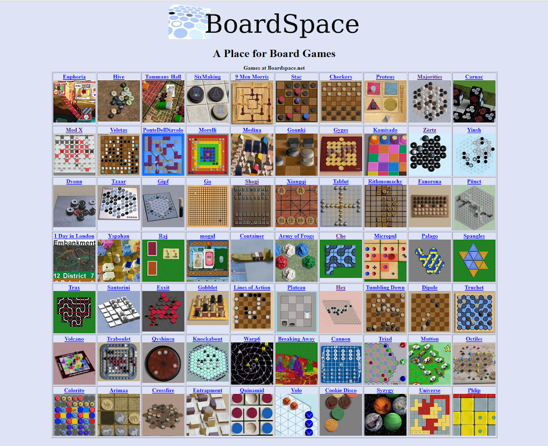 Boardspace.net- screenshot