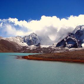 Gurudambar by Soumen  Basu Mallick - Landscapes Mountains & Hills