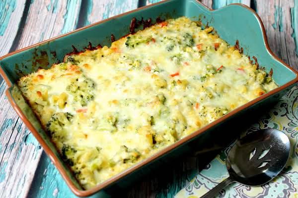 Baked Broccoli With Macaroni And Cheese