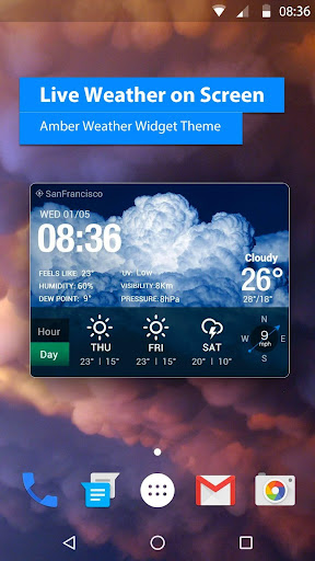 free live weather on screen 16.6.0.6243_50109 screenshots 1