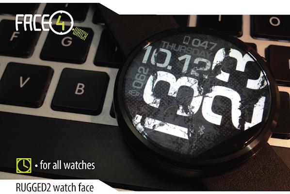 RUGGED2 Watch Face - screenshot