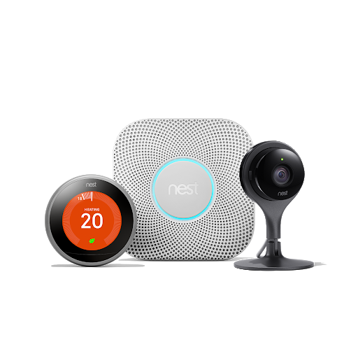 Nest Learning Thermostat, Nest Protect och Nest Cam Indoor