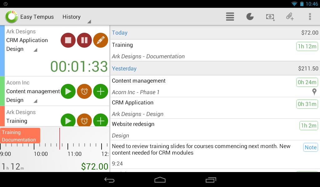 Timesheets and Invoicing - screenshot