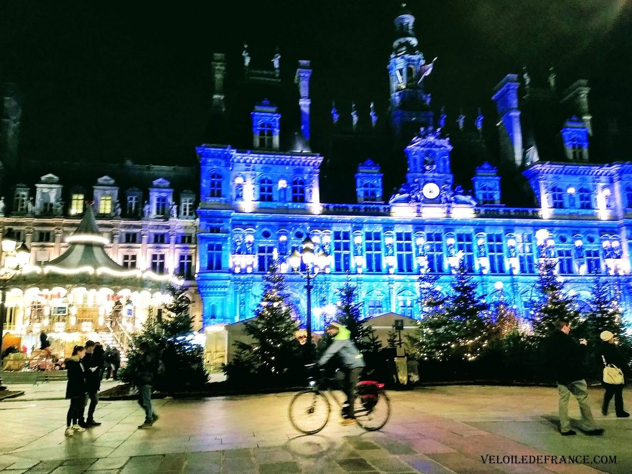 Lumières de Noel Hotel de Ville de Paris