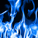 blue flame live wallpaper icon