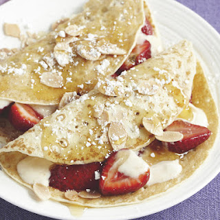 Crepes with Spiced Honey Yogurt.