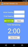 Screenshot of Gas Rate Calculator Lite