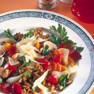 Paprika-Weizenpfanne