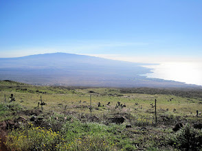 Photo: View of Mauna Kea volcano and the Kona Coast (west coast) of the Big Island  (looking south toward the town of Kailua-Kona). Taken from the road that runs  between Kapa'au and Waimea