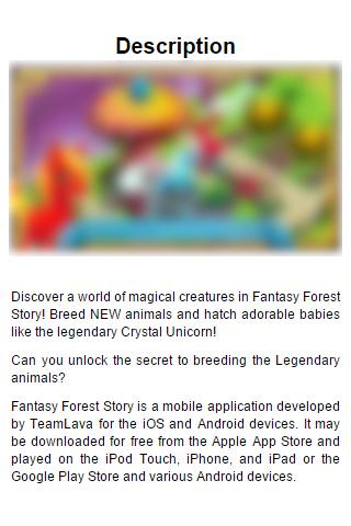 Guide for Fantasy Forest Story