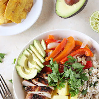 Caribbean Chicken Bowls with Coconut Rice.