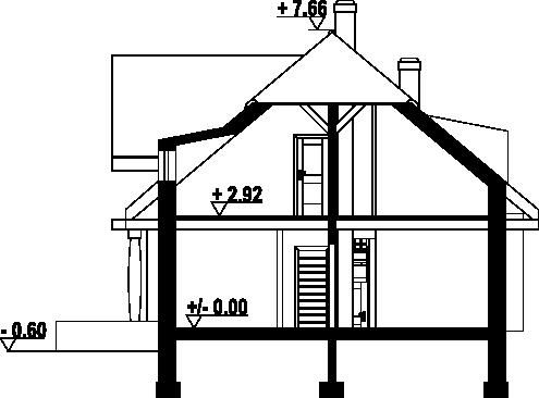 Chmielniki małe dw55 - Przekrój