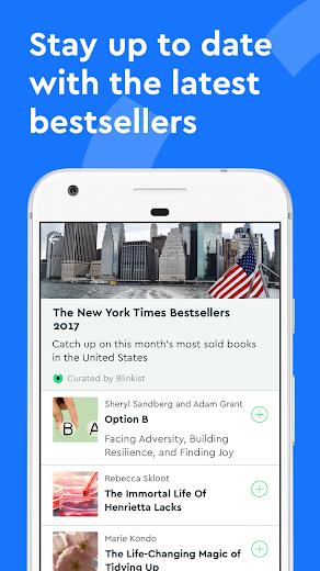 Screenshot 4 for Blinkist's Android app'