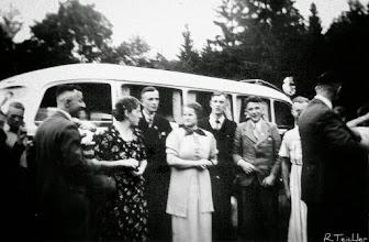Photo: Busausflug mit Personen aus Wünschendorf im Erzgebirge ( wer kann sie benennen? )