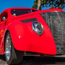 Very Red by Don Young - Transportation Automobiles ( red, color, custom, classic car, old car,  )