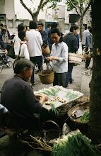 Photo: 10931 上海/自由市場/ネギ/ショウガ