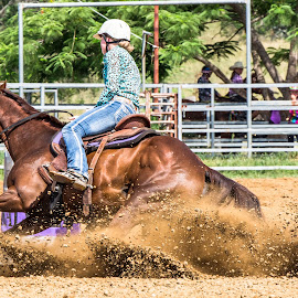 Hit the Skids by Sarah Sullivan - Sports & Fitness Other Sports ( #kalvale, #sarahsullivanphotography, #barrelracing, #abha, #qbra )