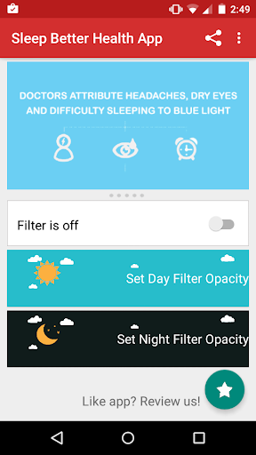 Night Shift: Blue Light Filter  screenshots 1