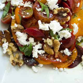 Tomato Salad with Plums, Beets, and Feta
