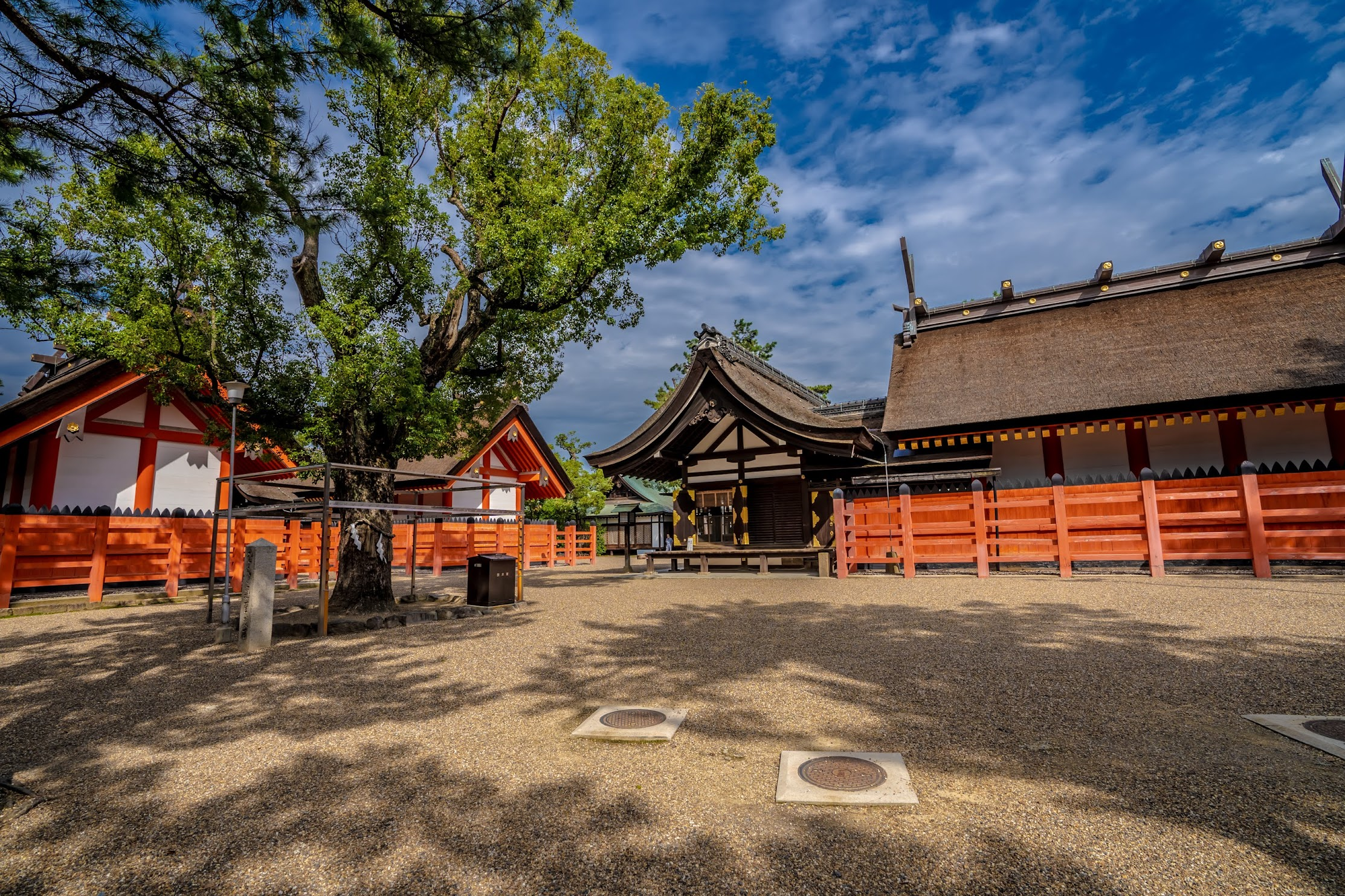 Sumiyoshi Taisha Shrine main sanctuary2