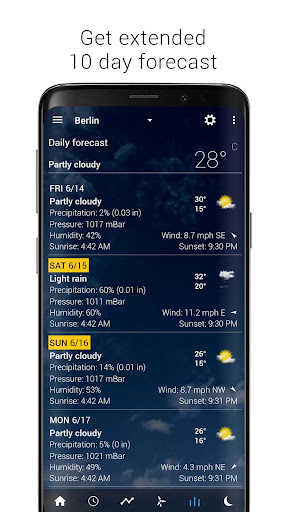 Transparent clock & weather - forecast & radar screenshot 5